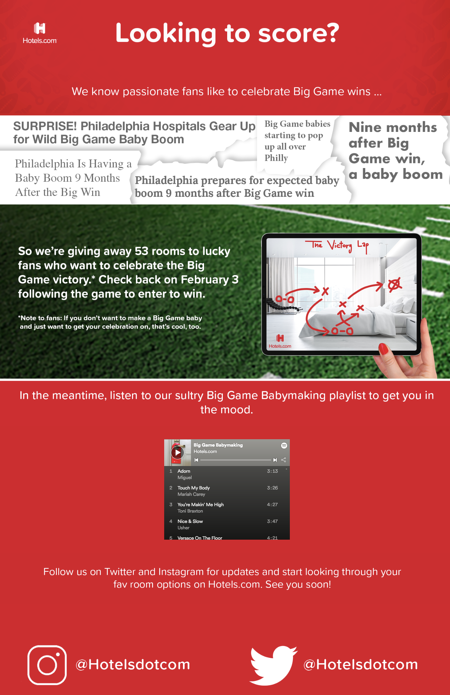 Wyng and Hotels.com Big Game Babies