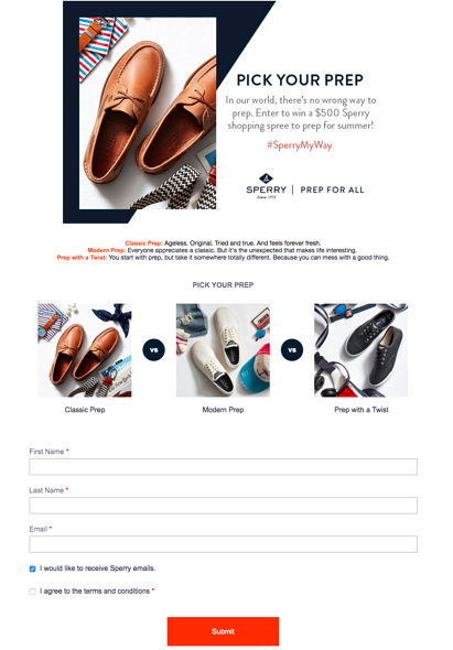 Sperry Pick Your Prep