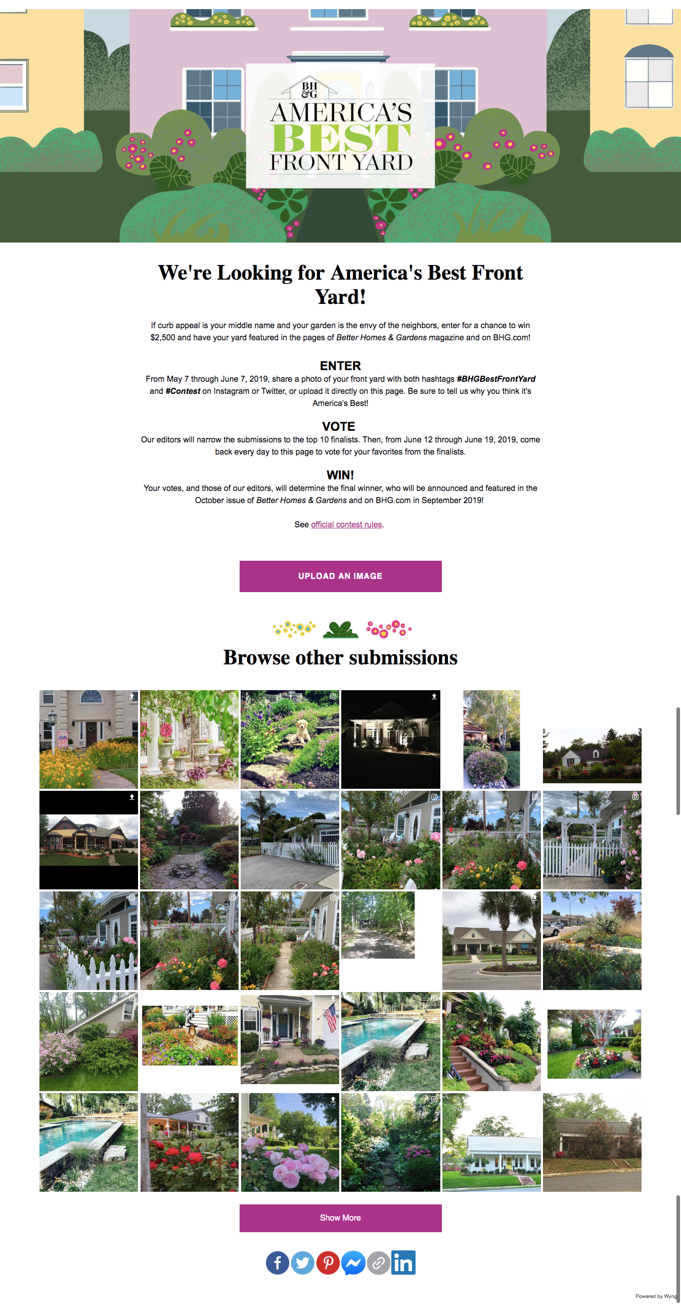 """Microexperience of the Week: Better Homes & Gardens """"Best Front Yard"""